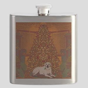 Christmas Labrador Flask