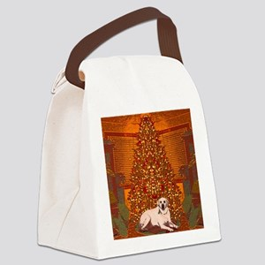Christmas Labrador Canvas Lunch Bag