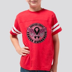 Cancer Awareness Distress Youth Football Shirt