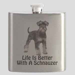 Life is Better With A Schnauzer Flask