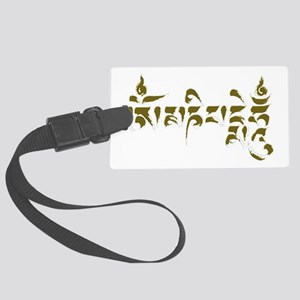 Om mani padme hum 2 Large Luggage Tag