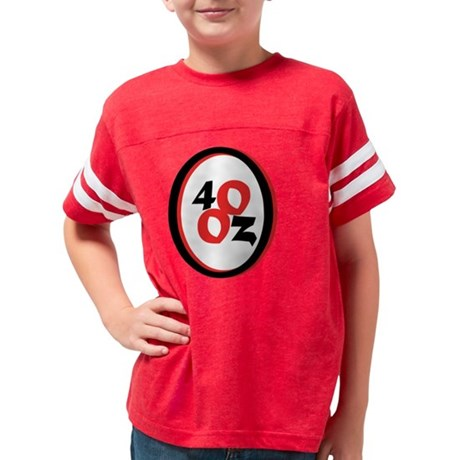 40oz_Logo copy Youth Football Shirt
