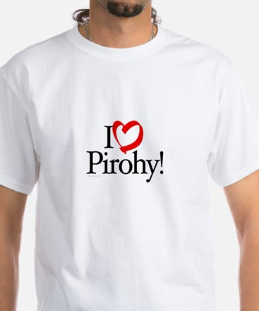 I Luv Pirohy White T-Shirt