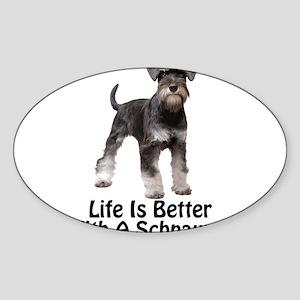 Better With A Schnuazer Sticker