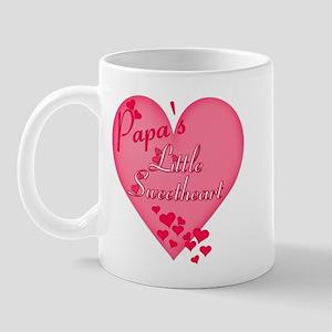 Papa's Little Sweetheart Mug