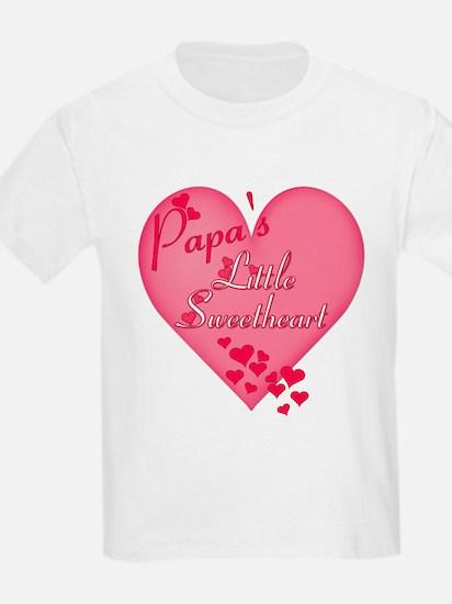 Papa's Little Sweetheart Kids T-Shirt