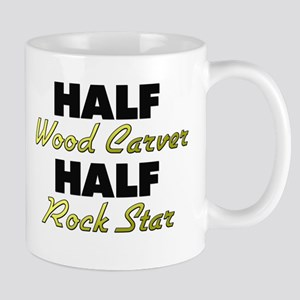Half Wood Carver Half Rock Star Mugs