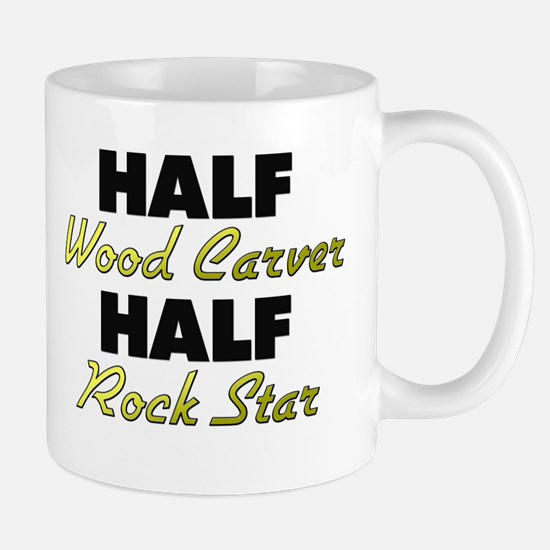 Half Wood Carver Half Rock Star Mugs