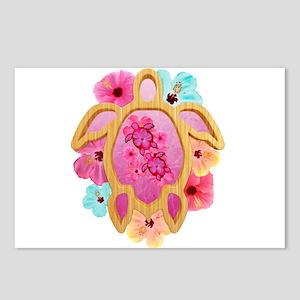 Hawaiian Pink Honu Postcards (Package of 8)