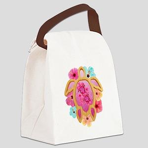 Hawaiian Pink Honu Canvas Lunch Bag