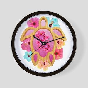 Hawaiian Pink Honu Wall Clock
