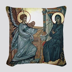 Annunciation Woven Throw Pillow