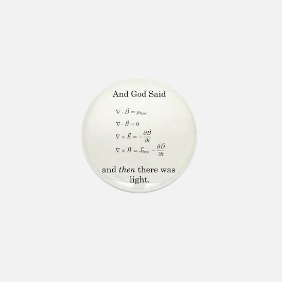 God Said Maxwell's Equations Mini Button