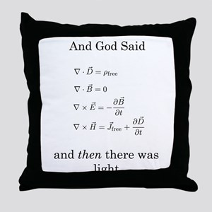 God Said Maxwell's Equations Throw Pillow