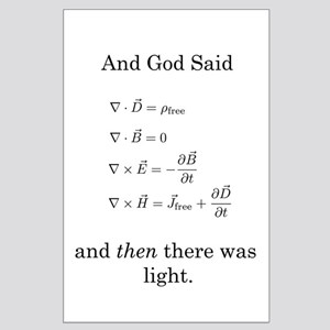 God Said Maxwell's Equations Large Poster