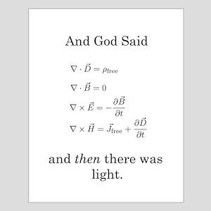 God Said Maxwell's Equations Small Poster