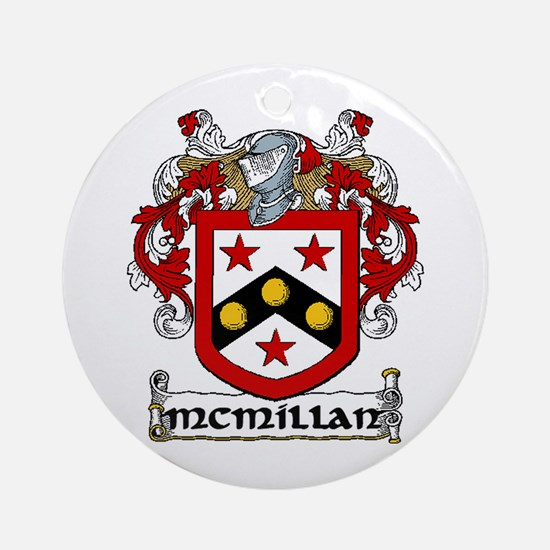 McMillan Coat of Arms Ornament (Round)