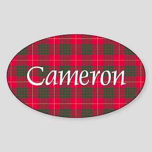 Tartan - Cameron Sticker (Oval)