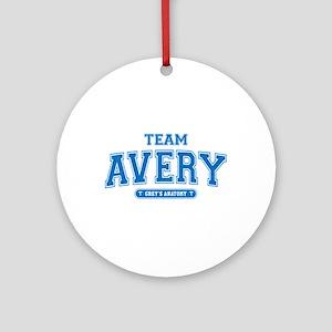 Grey's Anatomy Team Avery Round Ornament