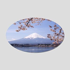 Mt. Fuji 20x12 Oval Wall Decal