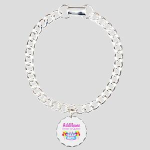 SWEET 16 QUEEN Charm Bracelet, One Charm