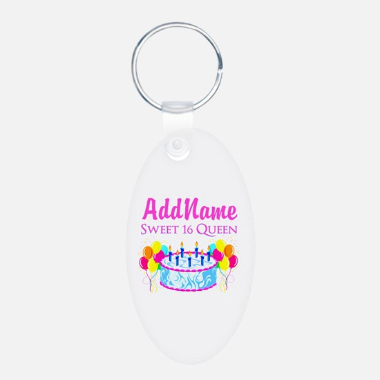 SWEET 16 QUEEN Keychains