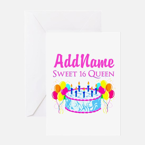 SWEET 16 QUEEN Greeting Card