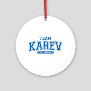 Grey's Anatomy Team Karev Round Ornament