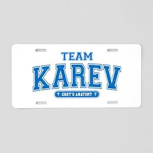 Grey's Anatomy Team Karev Aluminum License Plate