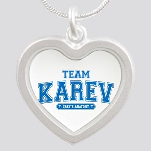 Grey's Anatomy Team Karev Silver Heart Necklace