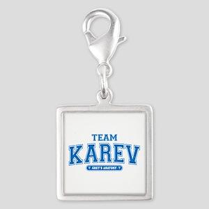 Grey's Anatomy Team Karev Silver Square Charm
