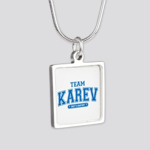Grey's Anatomy Team Karev Silver Square Necklace