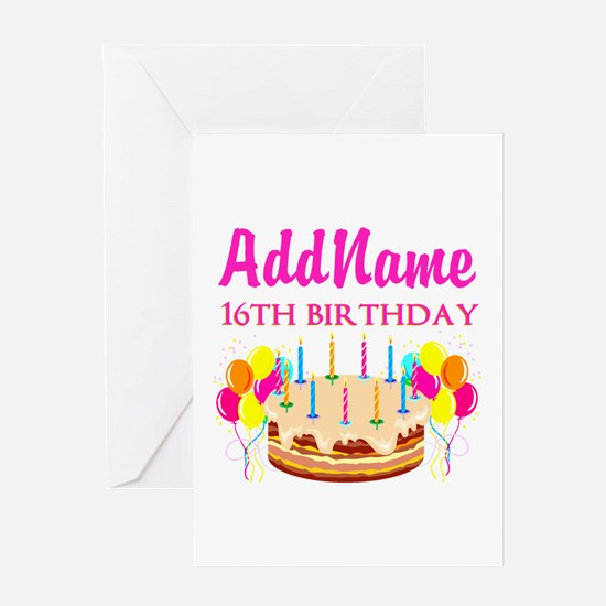16TH BIRTHDAY Greeting Card