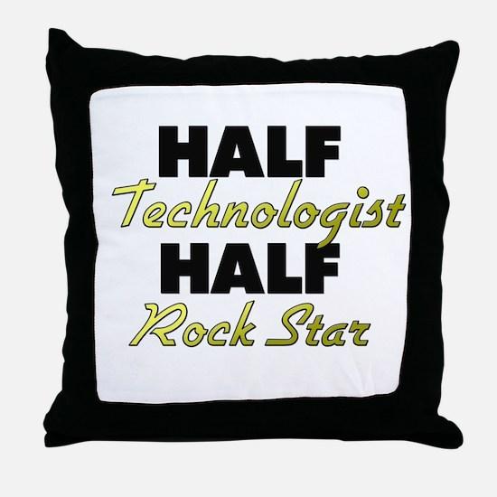 Half Technologist Half Rock Star Throw Pillow
