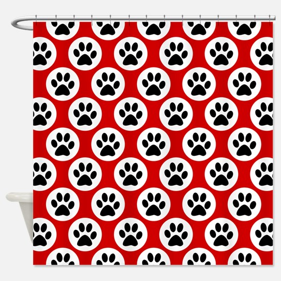 Polka Dot Paws Shower Curtain