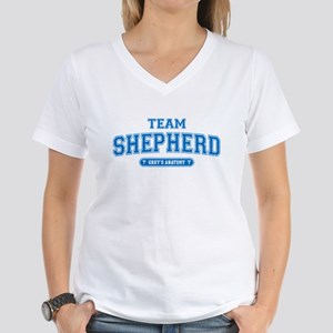 Grey's Anatomy Team Shepherd Women's V-Neck T-Shir