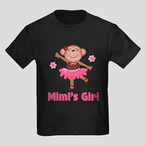 Mimi's Girl monkey Kids Dark T-Shirt