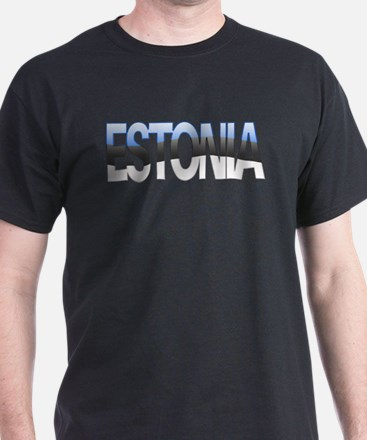 """Estonia Bubble Letters"" T-Shirt"