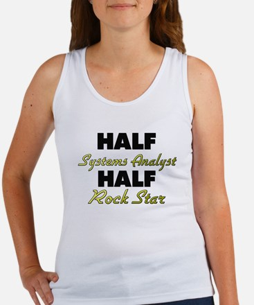 Half Systems Analyst Half Rock Star Tank Top