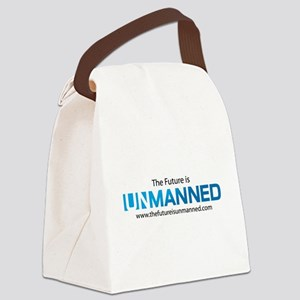 The Future is Unmanned Canvas Lunch Bag