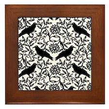 Raven Pattern Framed Tile