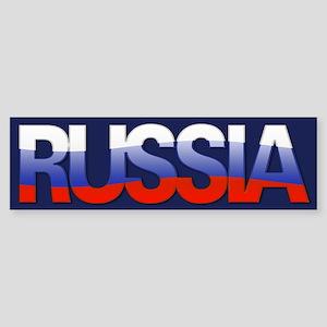 """""""Russia Bubble Letters"""" Bumper Sticker"""