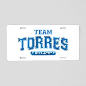 Grey's Anatomy Team Torres Aluminum License Plate