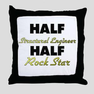 Half Structural Engineer Half Rock Star Throw Pill
