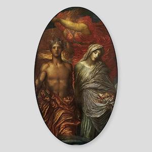 Time, Death & Judgement Oval Sticker