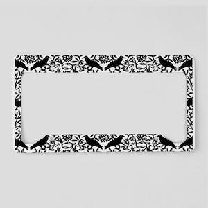 Raven Pattern License Plate Holder