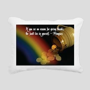 Give Thanks Rectangular Canvas Pillow