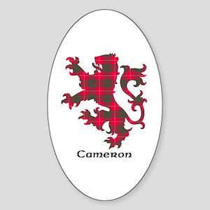 Lion - Cameron Sticker (Oval)