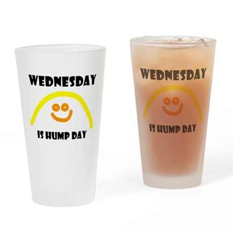Wednesday Drinking Glass