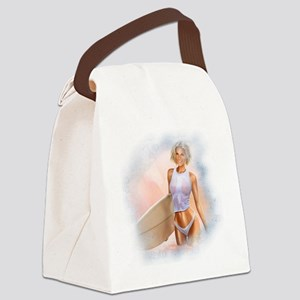 Sexy Surfer Girl Canvas Lunch Bag